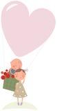 Amor no balão de ar quente Imagem de Stock Royalty Free
