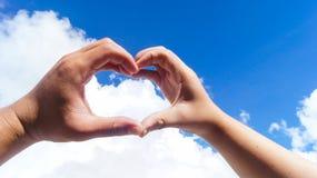 Amor no céu Imagens de Stock