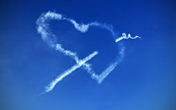 Amor no céu Fotografia de Stock