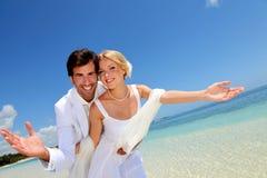 Amor no console paradisíaco Fotos de Stock Royalty Free