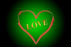 Amor no coração fotografia de stock