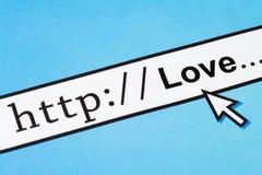 Amor no Cyberspace imagem de stock