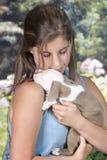 Amor no filhote de cachorro Fotos de Stock Royalty Free