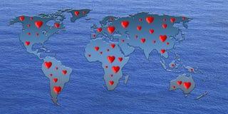 Amor no mundo Imagens de Stock Royalty Free