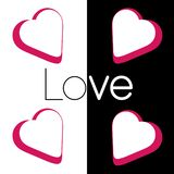 Amor no preto branco ilustração stock