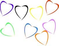 Amor no vetor do coração Imagens de Stock Royalty Free