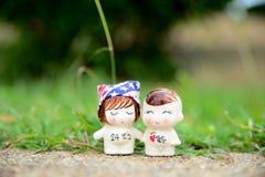 Amor nos jardins Fotografia de Stock Royalty Free