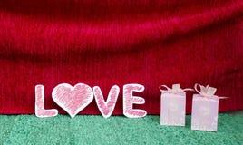 Amor, papel do amor Fotografia de Stock Royalty Free
