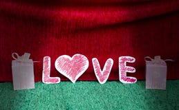 Amor, papel do amor Fotos de Stock Royalty Free