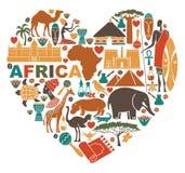 Amor para África ilustração do vetor