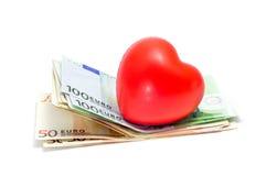 Amor para el dinero Imagen de archivo libre de regalías