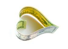Amor para el dinero Foto de archivo libre de regalías