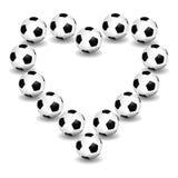 Amor para el fútbol Fotografía de archivo