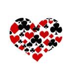 Amor para jogar cartões ilustração do vetor