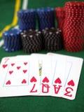 Amor para jugar el póker Foto de archivo