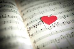 Amor para la música Imagen de archivo libre de regalías
