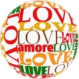 Amor para la tarjeta del día de San Valentín libre illustration