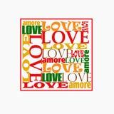Amor para la tarjeta del día de San Valentín ilustración del vector