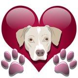 Amor para los perros stock de ilustración