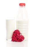 Amor para o leite fotos de stock royalty free