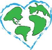 Amor para a terra do planeta Imagens de Stock