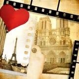 Amor Paris ilustração do vetor