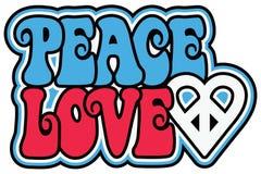 Amor patriótico de la paz Imágenes de archivo libres de regalías