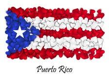Amor Porto Rico da bandeira Coração da bandeira lustroso Com amor de Porto Rico Feito em Porto Rico Nacional de Porto Rico Fotos de Stock