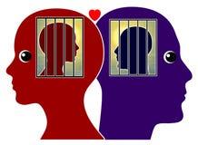 Amor prohibido entre los pares Imagenes de archivo