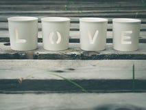Amor que es deletreado Imagen de archivo libre de regalías