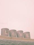 Amor que es deletreado Foto de archivo