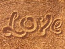 amor que handwritting Foto de Stock