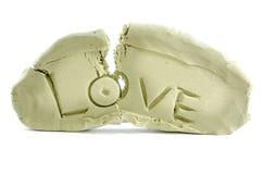 Amor quebrado Fotografia de Stock Royalty Free