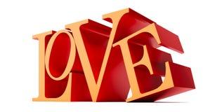 Amor - rendição 3D Fotografia de Stock Royalty Free