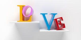 Amor - rendição 3D Imagens de Stock Royalty Free