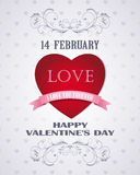 Amor retro feliz de la tarjeta del día de tarjetas del día de San Valentín Imagen de archivo libre de regalías
