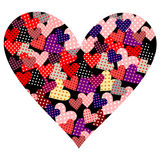 Amor rojo del elemento del símbolo del vector del corazón Foto de archivo