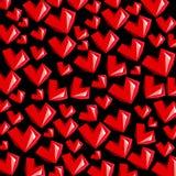 Amor rojo del elemento del símbolo del vector del corazón Imagenes de archivo