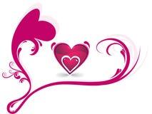 Amor romántico abstracto de los corazones Imagen de archivo libre de regalías