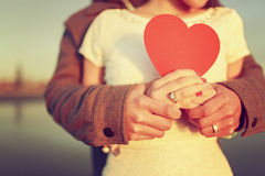 Amor romântico Imagens de Stock