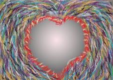 Amor romântico do coração abstrato Fotografia de Stock Royalty Free