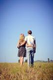 Amor, romance, futuro, vacaciones de verano, y concepto de la gente Fotos de archivo
