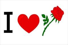 Amor Rosa vermelha Fotografia de Stock
