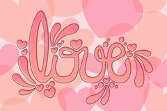 Amor rosado Foto de archivo libre de regalías