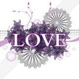 Amor roxo Foto de Stock Royalty Free