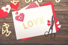 Amor scrapbooking Fotos de archivo