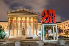 AMOR Sculpture vor Philadelphia Art Museum lizenzfreie stockbilder