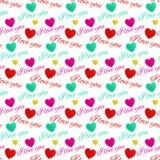 Amor sem emenda do teste padrão você Foto de Stock Royalty Free