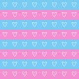 Amor sem emenda dos corações do teste padrão Foto de Stock
