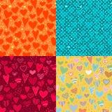 Amor. sistema de fondo de cuatro corazones libre illustration